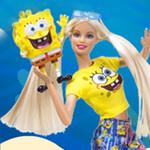 Barbie loves SpongeBob  Squarepants: Pair -a-Square Games