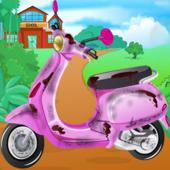 Barbie School Bike Cleaning