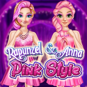 Rapunzel And Anna Pink Style