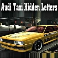 Audi Taxi Hidden Letters