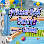 Frozen Pool Party Cleaning