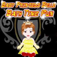 Baby Princess Belle Bath Time