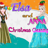 Elsa And Anna: Christmas Cleaning