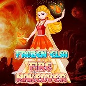 Frozen Elsa: Fire Makeover