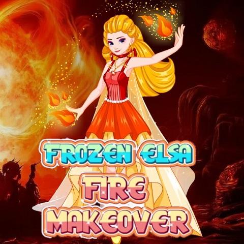 Frozen Elsa: Fire Makeover