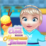 Baby Elsa: Cooking Homemade Icecream