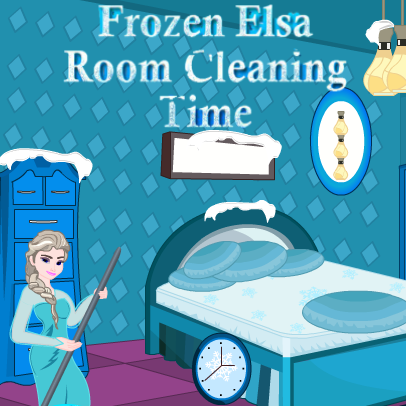 Frozen Elsa: Room Cleaning Time