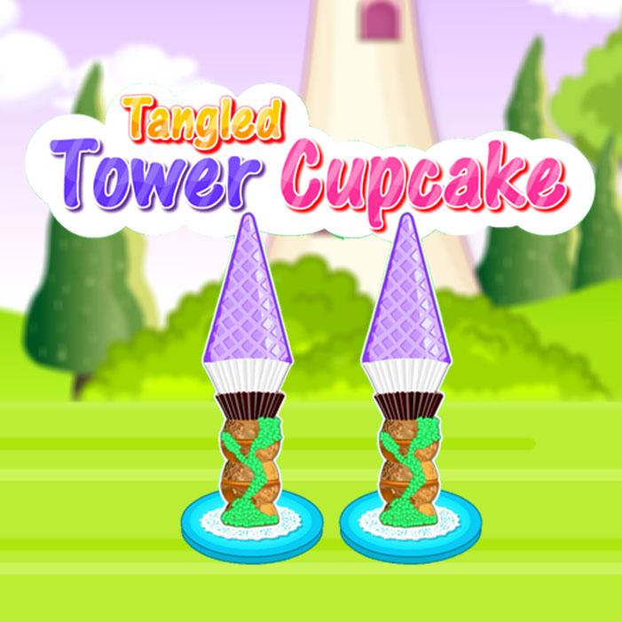 Tangled Tower Cupcake