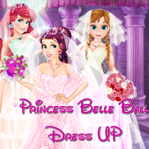 Princess Belle: Ball Dress Up