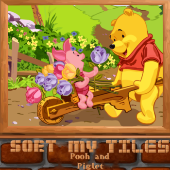 Sort My Tiles Pooh and Piglet