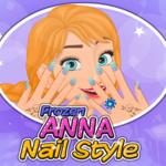 Frozen Anna Nail Style