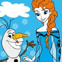 Elsa Olaf Coloring