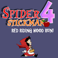 Spider Stickman 4: Red Riding Hood Run