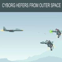 Cyborg Hefers From Outer Space