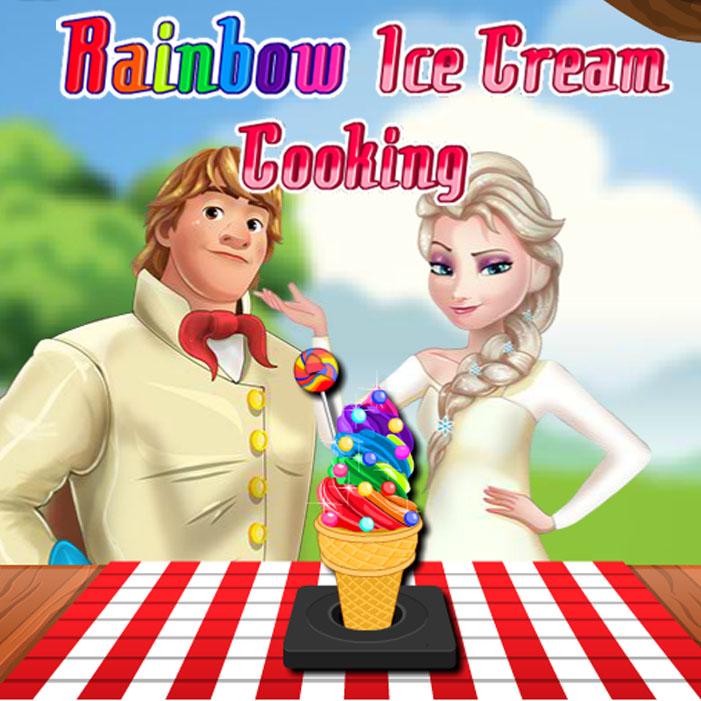Rainbow Ice Cream Cooking