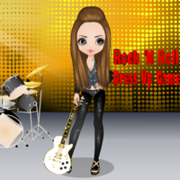 Rock 'N Roll Dress Up Game