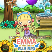 Spot The Differences Emma And A Little Blue Bird