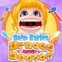 Тенденции игр,Baby Barbie is getting braces today and she is a bit scared. It is completely understandable as everybody dreads the idea of paying a visit to the dentist. The noisy and creepy looking tools in the teeth doctor's cabinet have that effect especially on children. Have fun!