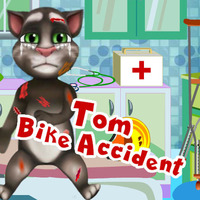 Trendy gier,Talking Tom had a bad bike accident and now he is at the hospital hoping you will make the pain go away. Be a fantastic vet, take good care of his wounds and bruises, check if he broke his arm and bandage his injuries. After, make Tom happy again by helping him reassemble his bike. Have fun!