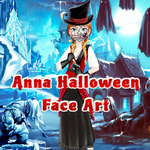 Anna Halloween Face Art
