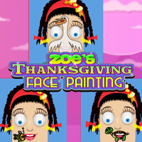 Zoe's Thanksgiving Face Painting