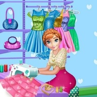 เกมออนไลน์ฟรี, Annie Tailor Shop is one of the design games that you can play on UGameZone.com for free. Annie opened a new tailor shop and she is preparing beautiful outfits and dresses for her clients. Today you are the lucky one who won a free dress made in Annie's tailor shop. Another good news is that you can design your dress yourself, choosing from many materials, designs, colors, and patterns. Have fun designing your very own dress in Annie's Tailor Shop!