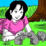 Girl & Hamsters