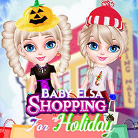 Baby Elsa Shopping For Holiday