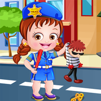Baby Hazel Police Dress Up