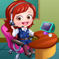 Baby Hazel Receptionist Dress Up