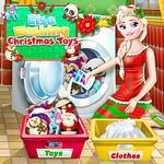 Elsa Washing Christmas Toys