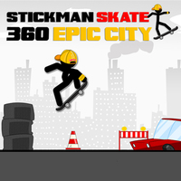 Oyun Trendleri,Stickman Skate 360 Epic City is one of the Skateboard Games that you can play on UGameZone.com for free.  Enter the arena to become a Stickman Skater. You must ride along with the city. You must realize the best tricks and the best jumps to complete each level.  You also need to manage your speed. To win, you have to kill them all. Watch out ... you'll face numerous warriors. Their big boss will not hesitate to mangle you!